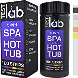 Hot Tub Testing Strips 5 in 1 - Pool & Spa Chlorine Water Quality Test Kit - Bromine Test Strips for Hot Tubs - 100 Professional Strip Pack