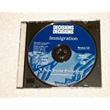Decisions Decisions the Immigration Cd-rom Tom Snyder Productions Version 5.0