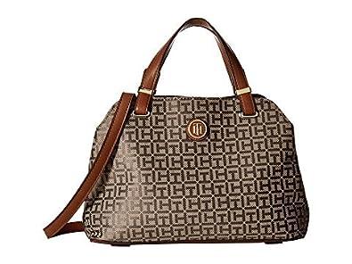 e837ba9cb Amazon.com: Tommy Hilfiger Women's Geneva Convertible Satchel Tan ...