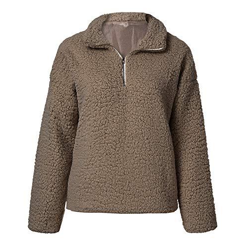 Marron Manteau Manteau Laine Chaud Dame Hiver Femme Swear Manteau Pulls Zipper Coton Shirt Robemon 2018 z6qxaYwYd