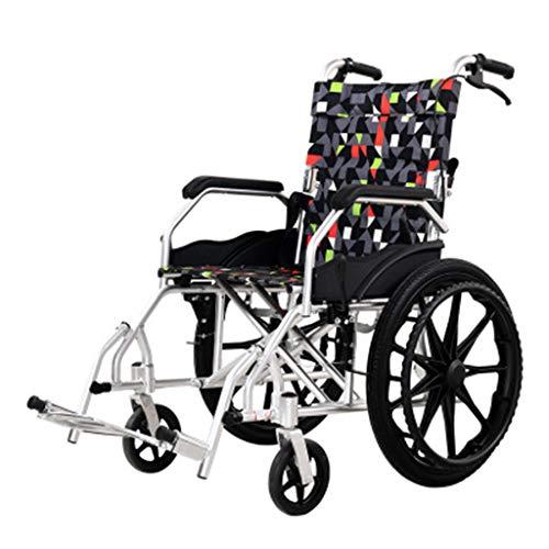 NKDK Wheelchair Aluminum Alloy Portable Wheelchair Car for The Elderly