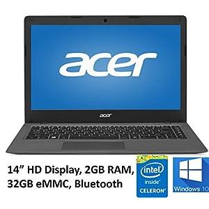 Acer Aspire One Cloudbook 14in Laptop PC, Intel Celeron N3050 1.6GHz, 2GB DDR3L Memory, 32GB eMMC, Webcam, HDMI, 802.11ac WIFI, Bluetooth, Windows 10 (Renewed)