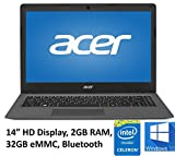 "Acer Aspire One Cloudbook 14"" Laptop PC, Intel Celeron N3050 1.6GHz, 2GB DDR3L Memory, 32GB eMMC, Webcam, HDMI, 802.11ac WIFI, Bluetooth, Windows 10 (Certified Refurbished)"