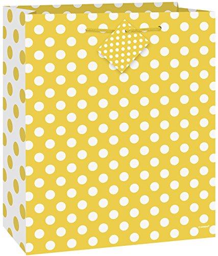 Yellow Polka Dot Gift Bag
