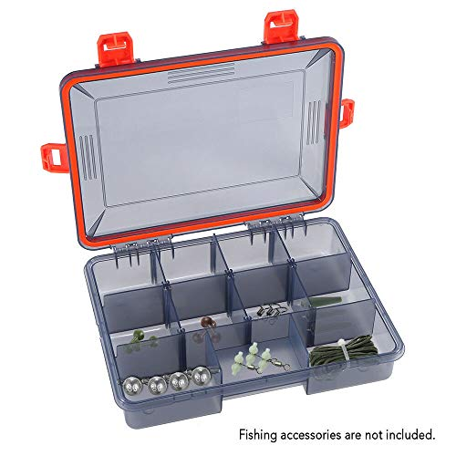 t Multi-Function Plastic Fishing Tackle Box Storage case L7F8 (Size - RED) ()