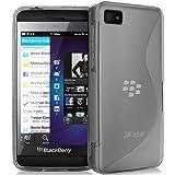 JKase Premium Quality BlackBerry Z10 BB 10 Streamline TPU Case Cover - Retail Packaging - Grey