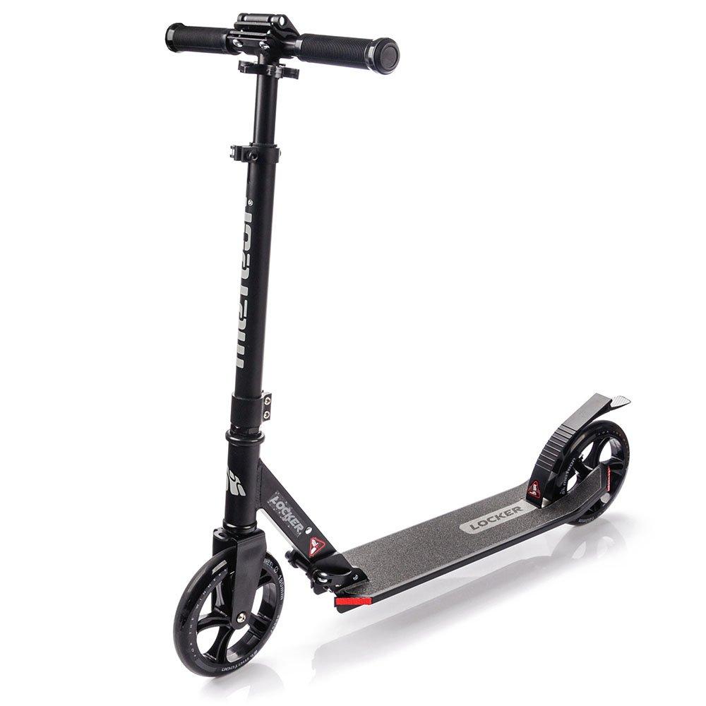 Scooter plegable ruedas grandes 180 mm patinete Niños y Adultos Muy Duradera - hasta 100 kg Patinete de aluminio de alta calidad dos amortiguadores Locker (Negro) markArtur