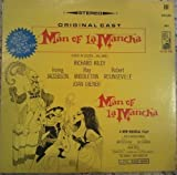 MAN OF LA MANCHA - vinyl lp. ORIGINAL CAST RECORDING: RICHARD KILEY - IRVING JACOBSON - RAY MIDDLETON - ROBERT ROUNSEVILLE - JOAN DIENER - OVERTURE - MAN OF LA MANCHA - IT'S ALL THE SAME - DULCINEA - I'M ONLY THINKING OF HIM.