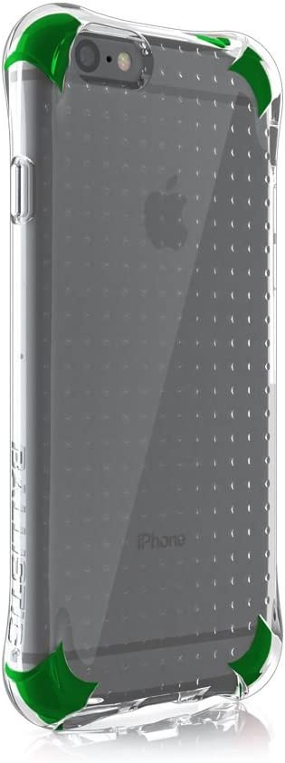 iPhone 6s Case, Ballistic [Jewel Spark] Six-Sided Drop Protection [Clear/Green] 6ft Drop Test Certified Case Reinforced Corner Protective Cover for iPhone 6 / 6s - (JS1465-A88N)