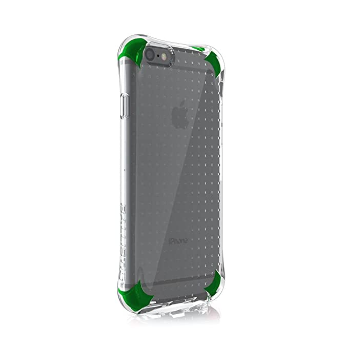 best sneakers 6e690 09d64 Ballistic, iPhone 6 Case / 6s Case [Jewel Spark] 6ft Drop Test Certified  Case Protection [Clear / Green] Reinforced Bumper Cell Phone Case for Apple  ...