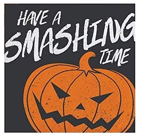 Halloween Cocktail Napkins Scary Smashing Pumpkins Multipack Double Sided 56 Count Pack