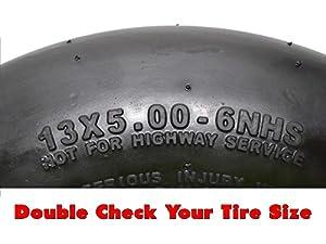 (2) Kenda 13x5.00-6 Smooth 4 Ply Tires