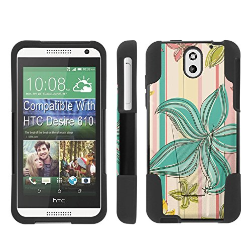 [ArmorXtreme] Case for HTC Desire 610 [Black/Black] [Hybrid Armor KickStand Dual Layer Protection Case] - [Teal - For Teal Desire 610 Htc Cases