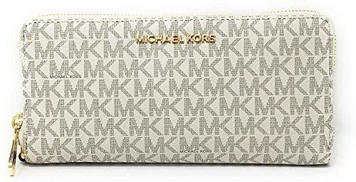 Michael-Kors-Jet-Set-Travel-Continental-Zip-Around-Leather-Wallet-Wristlet-VanillaDark-Acorn
