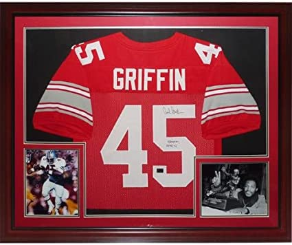 Archie Griffin Autographed Ohio State Buckeyes (Scarlet #45 ...
