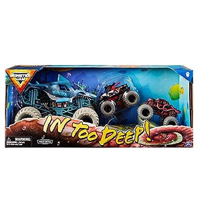 Monster Jam in Too Deep Diecast Car 3-Pack: Toys & Games [5Bkhe1105671]