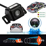 Glumes Universal Car Backing Camera, Rear View Backup Camera, 170° HD Easy-Installation Night Vision Anti Fog Glass Waterproof, 1/3'' Color CMOS, Fit For Car,Boat,Trailer,Camper,Truck (Black)