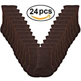 Chair Leg Covers for Hardwood Floors 24pcs Chair Legs Socks, Knitted Furniture Leg Floor Protectors, Chair Feet Covers for Bar Stool, Dinning Chairs or Table, Protect Hardwood Floors from Scratches and Reduce Noise (Brown)