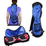 Self-Balancing Scooter Carrying Backpack Bag for 6.5' 7' and 8' Two-Wheel Hover Electric Skate Board Balancing Scooters Storage Mesh Pocket Adjustable Shoulder Strap Blue and black by GameXcel
