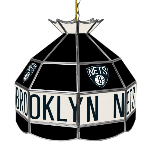 NBA Brooklyn Nets Tiffany Gameroom Lamp, 16'' by Trademark Gameroom