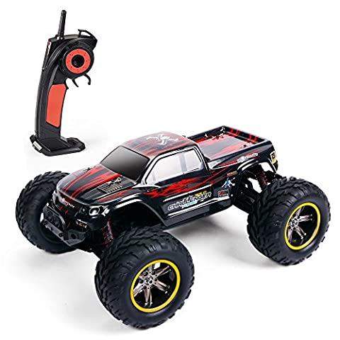 AMOSTING S911 35MPH 1/12 Scale 2.4GHz Remote Control Monster Truck - Red - Red Monster Truck