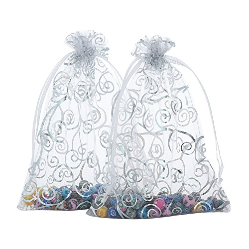Anleolife 50pcs Sheer Organza Wedding Holidays Favor Bags Shower 6