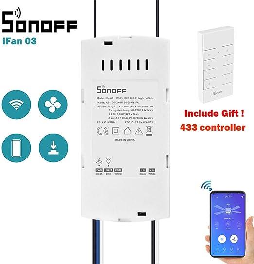 SONOFF IFan03 - Kit de Mando a Distancia para Ventilador de Techo ...