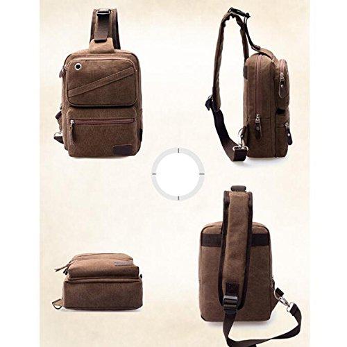 Men Canvas Travel Bag Shoulder Inclined Bag Bag Shoulder Sports Single Bag Black Bag Chest Outdoor U7xCq1wd1