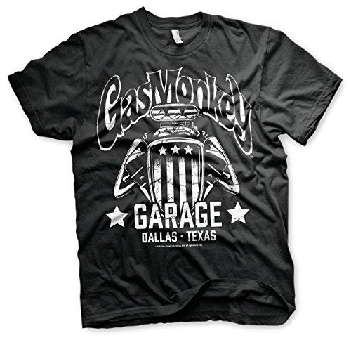 Offizielles Lizenzprodukt Gas Monkey Garage - American Engine T-Shirt (Schwarz)
