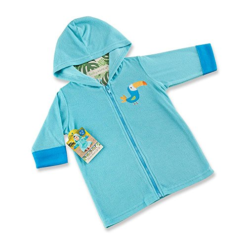 Baby Aspen Tropical Toucan Hooded Beach Zip Up, Blue by Baby Aspen