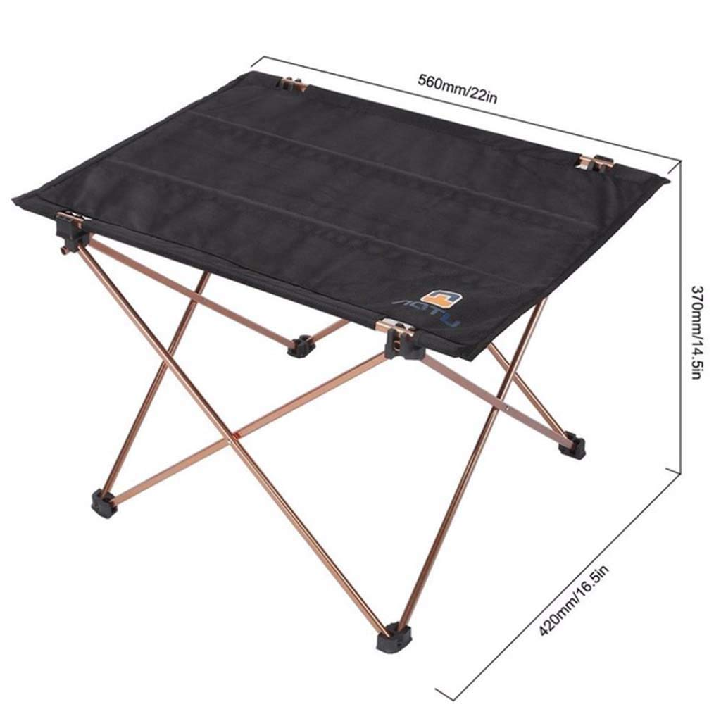 Outdoor Picnic Folding Camping Table Foldable Table Desk Light Aluminum Alloy Bracket Oxford Cloth by Makang