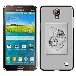 [Neutron-Star] Snap-on Series Teléfono Carcasa Funda Case Caso para Samsung Galaxy Mega 2 [Woman Mysterious Halloween Tattoo]
