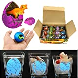 Water Hatching Animal Egg,Livoty 12pcs/set Magic Hatching Dinosaur Add Water Growing Dino Eggs Inflatable Kid Toy (A)