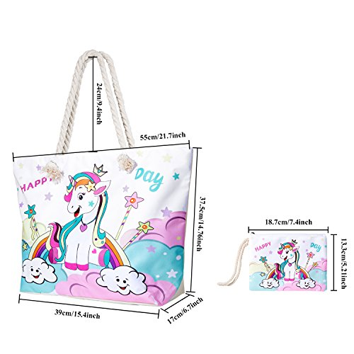 MOOKLIN Shoulder with Small Girls Women Day Bag for Tote Travel Handbag Happy Ladies Women Beach Holiday Canvas Shopping Bag Summer Bags Large Bag rvwr4q
