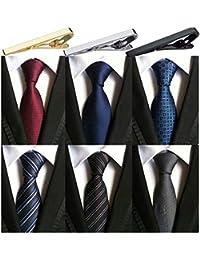 Pack of 6 Men's Classic Business Tie Silk Necktie Woven Jacquard Neck Ties