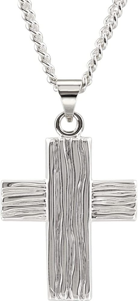 Sterling Silver 18x18mm The Rugged Cross/Â Pendant TONYS JEWELRY CO
