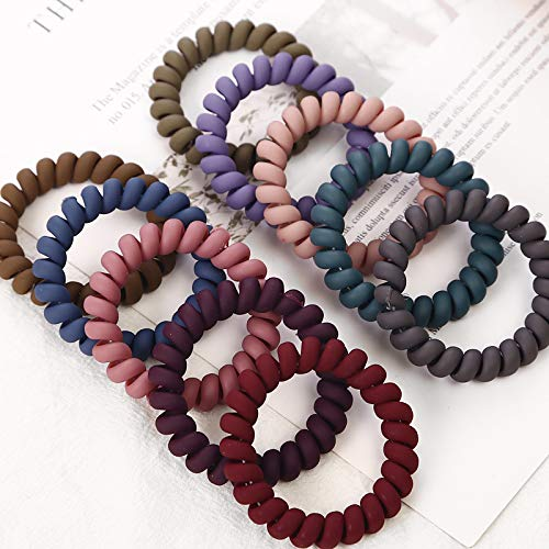1Pcs Telephone Wire Elastic Rubber Bands Traceless Girls Gum Ponytail Hair Ring