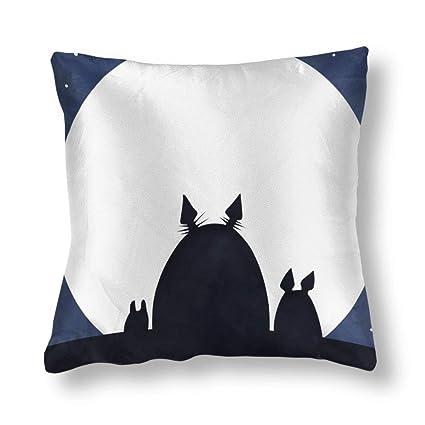 TANGHAA Totoro Tema del Cielo Estrellado Cuadrado de Seda ...