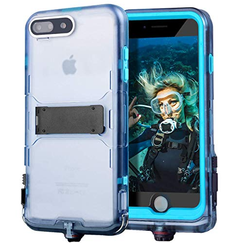 Generic iPhone 7 Plus Waterproof Case Certified Full Coverage Case Outdoor Cover Built-in Kick Stand with Falling Protective Cover Compatible with Case iPhone 8 Plus Case