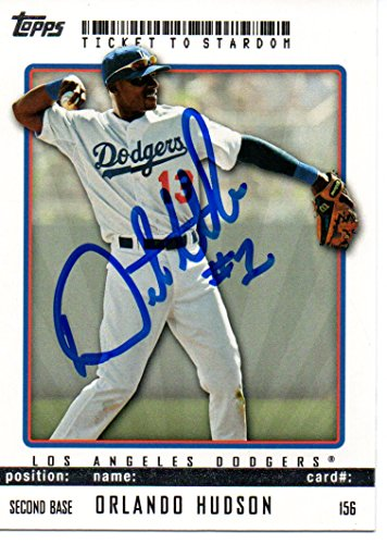 Orlando Hudson Los Angeles Dodgers 2009 Topps Ticket To Stardom Signed Card (Ticket Topps 2009)