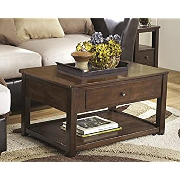Beau Ashley Furniture Signature Design   Marion Lift Top Coffee Table   1 Drawer  And 1 Fixed