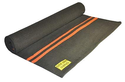 Amazon.com: Bheka Cotton Yoga Mat Rug (Orange Stripes on ...