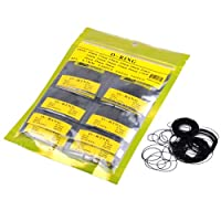 Top Plaza 750pcs O Ring Watch Back Gasket Rubber Seal Washers Size 16-30mm, 0.7mm