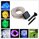 ETbotu 10M 100LED Waterproof Solar-powered Pipe String Lights Garden Yard Home Party Decoration