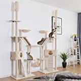 TANGKULA Large Cat Tree Multi-Level Activity Tower Condo With Hammock Deluxe Scratching Posts And Rope