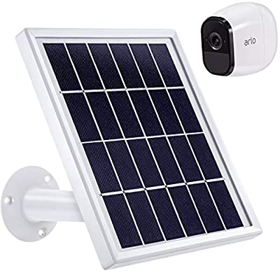 Blulu Solar Panel Compatible with Arlo Pro, Waterproof Arlo Accessory to Power Arlo Pro Outdoor Security Camera Continuously with Adjustable Mount Bracket, 12 Feet/ 3.6 m Cable