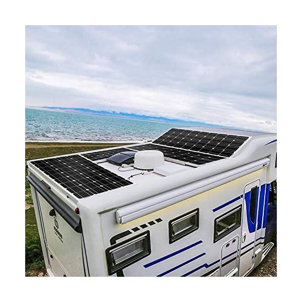 51TRwXzrCAL DOKIO 100W Solarpanel TÜV-Zulassung Monokristallin(Hohe Leistung) - Solarmodul 100 Watt FüR 12v Kfz Batterie,AGM…