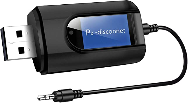 Abafia LCD USB Adaptador Bluetooth,2 en 1 Receptor y Transmisor Bluetooth, con Audio Inalámbrico 3.5MM Cable, Plug and Play,Baja Latencia, TV y PC/Audio del Automóvi/Auriculares/Teclados: Amazon.es: Electrónica
