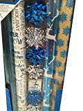 BLUE CHRISTMAS ~ Gift Wrap Set with Bows & Ribbon
