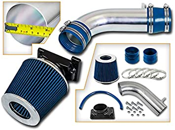 Ram Air Intake System+BLACK Dry Filter for 92-03 Montero Montero Sport 3.0L V6